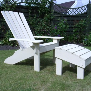 Handmade Garden Chair with Foot Stool
